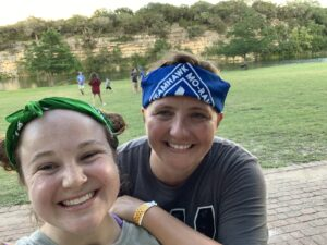 Pictured: Hannah Cooley and CYMT Coach, Christina Moore